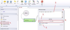 Word processing substring