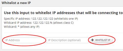 Dodaj IP strony