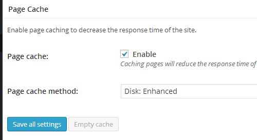 W3 Total Cache - Page Cache